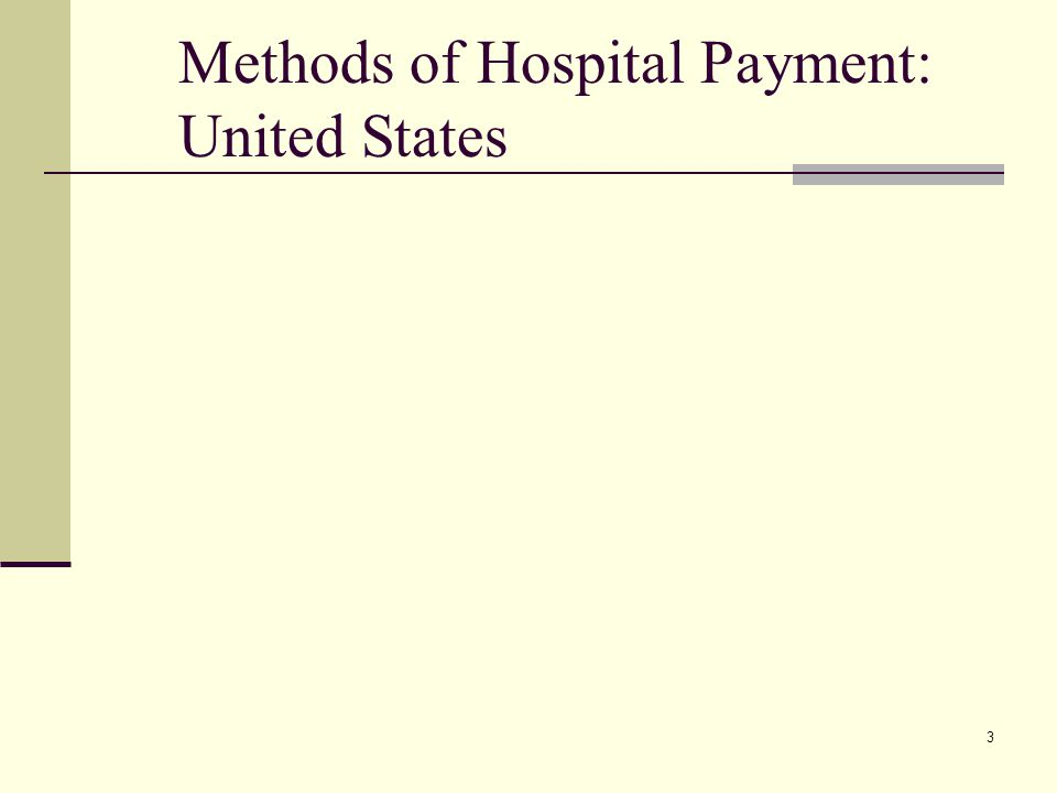 3 Methods of Hospital Payment: United States