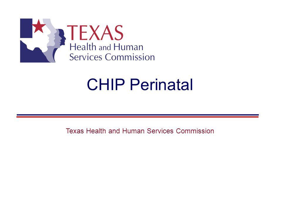 CHIP Perinatal Texas Health and Human Services Commission