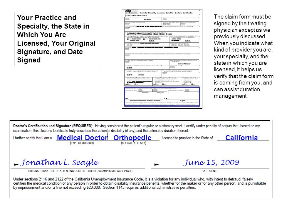 Jonathan L. Seagle June 15, 2009 Medical Doctor Orthopedic California Your Practice and Specialty, the State in Which You Are Licensed, Your Original