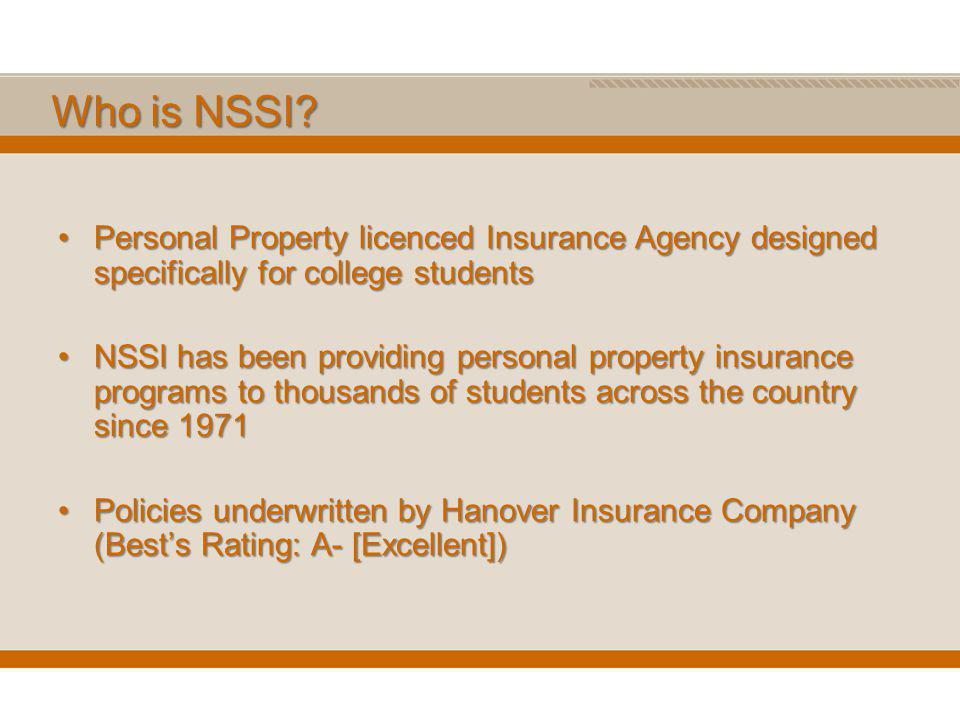 Who is NSSI.