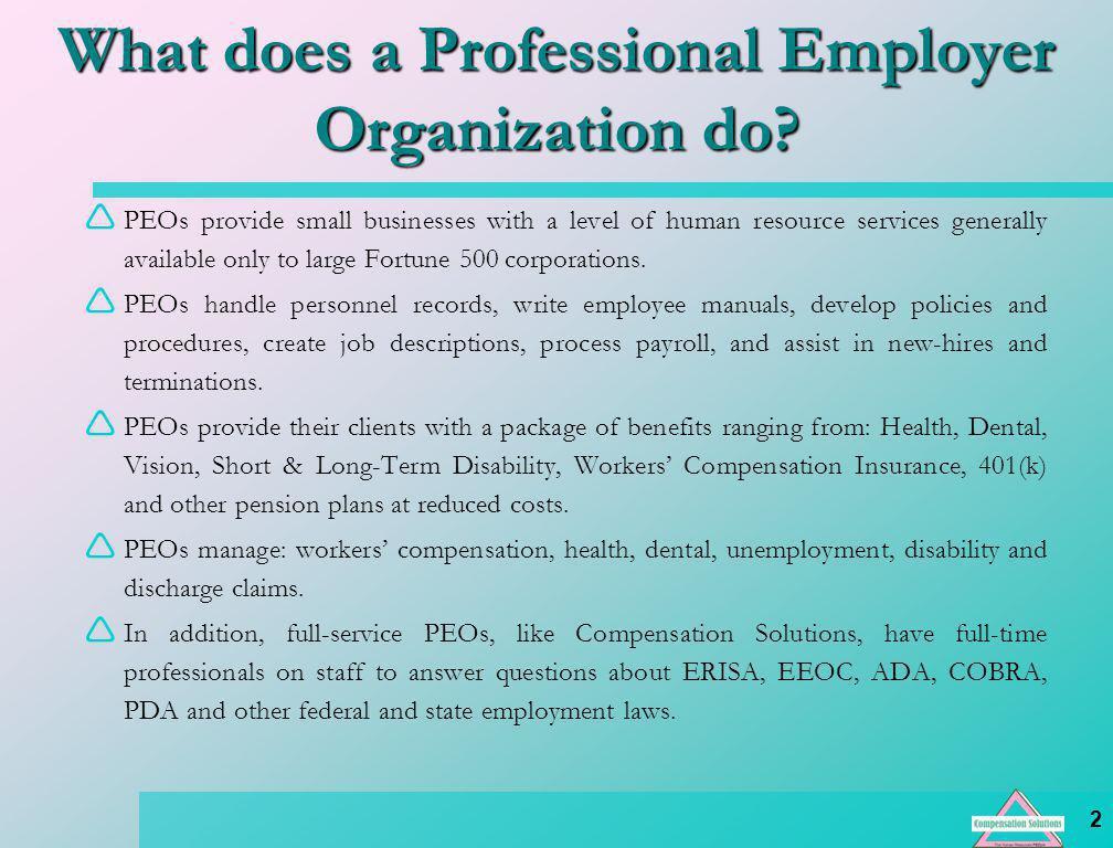 13 Employee Benefits & Preferred Vendors Section 125 Dependent Care Medical Expense Medical & Dental Credit Union Travel Club Group Term Life LTD & STD Retirement 401(k) Profit Sharing