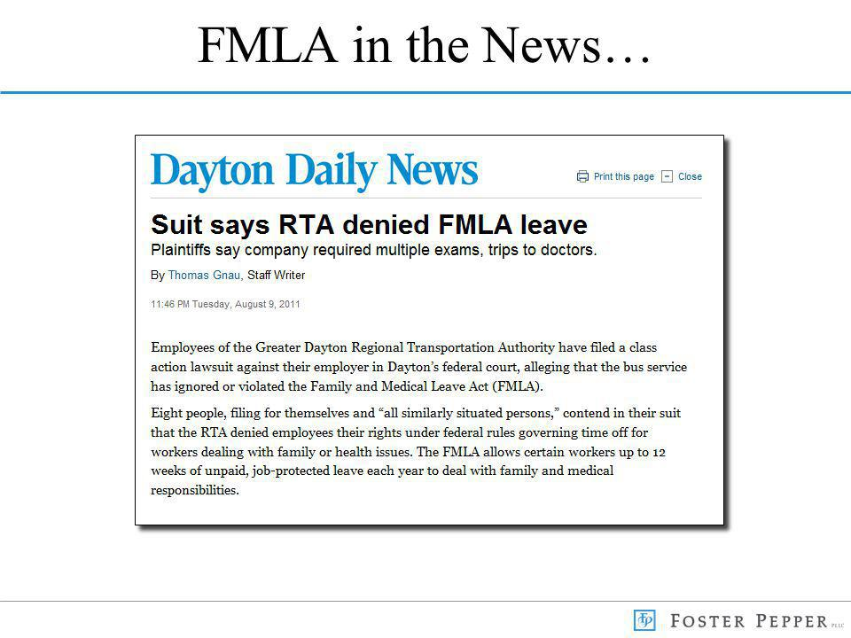 FMLA in the News…
