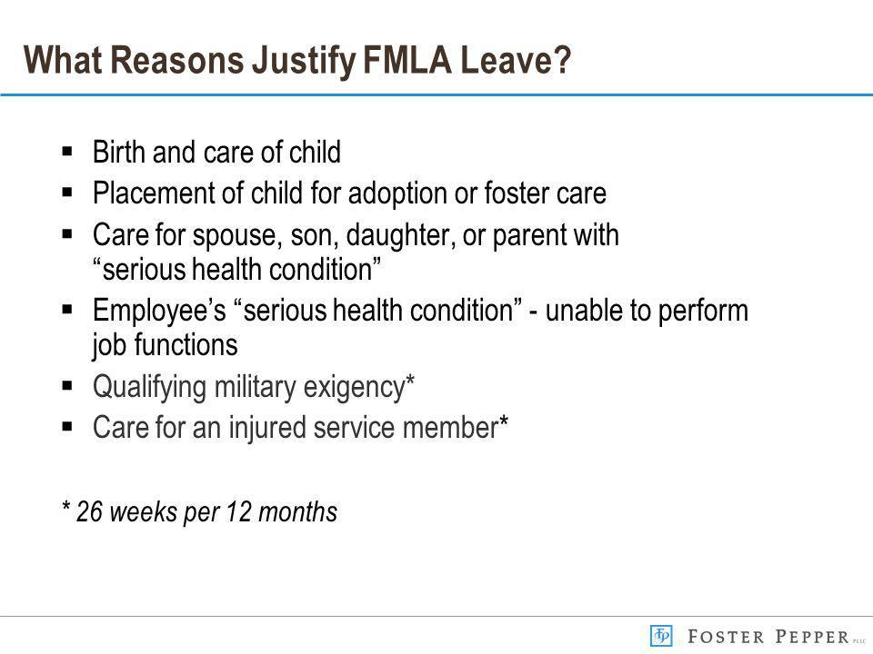What Reasons Justify FMLA Leave.