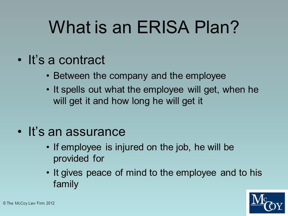 What is an ERISA Plan.