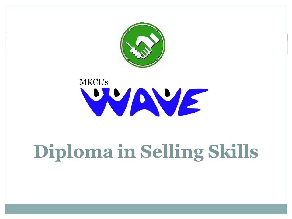 MKCL s Diploma in Selling Skills