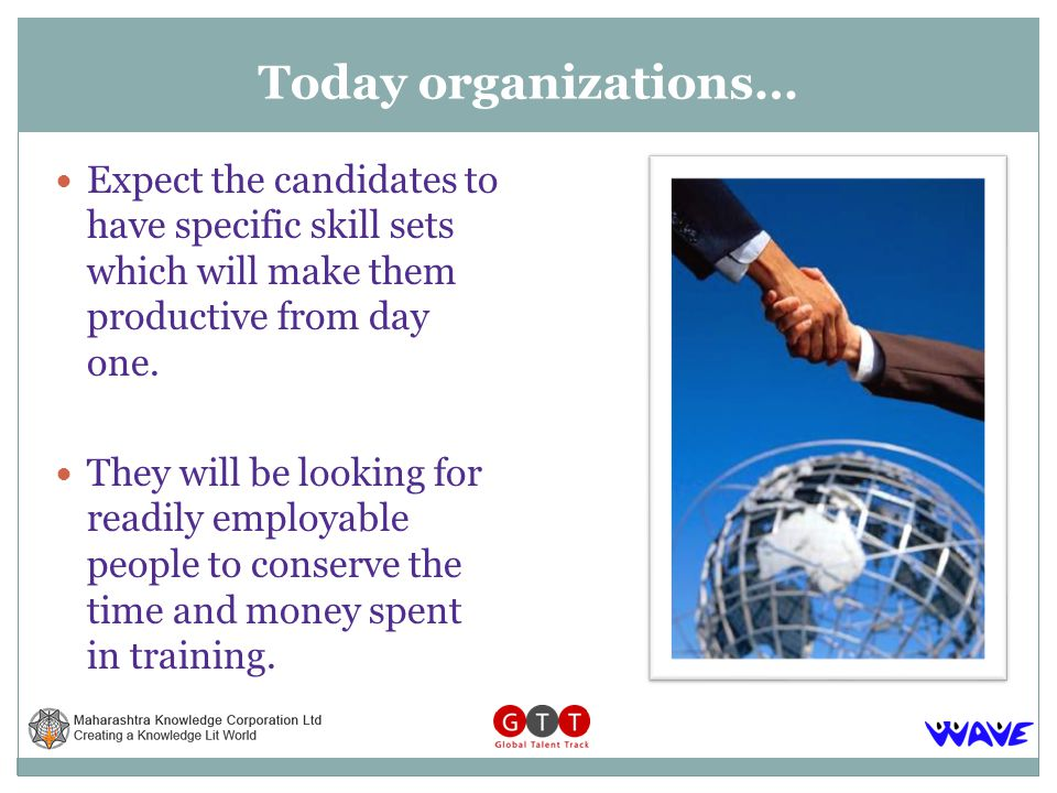 Expect the candidates to have specific skill sets which will make them productive from day one.