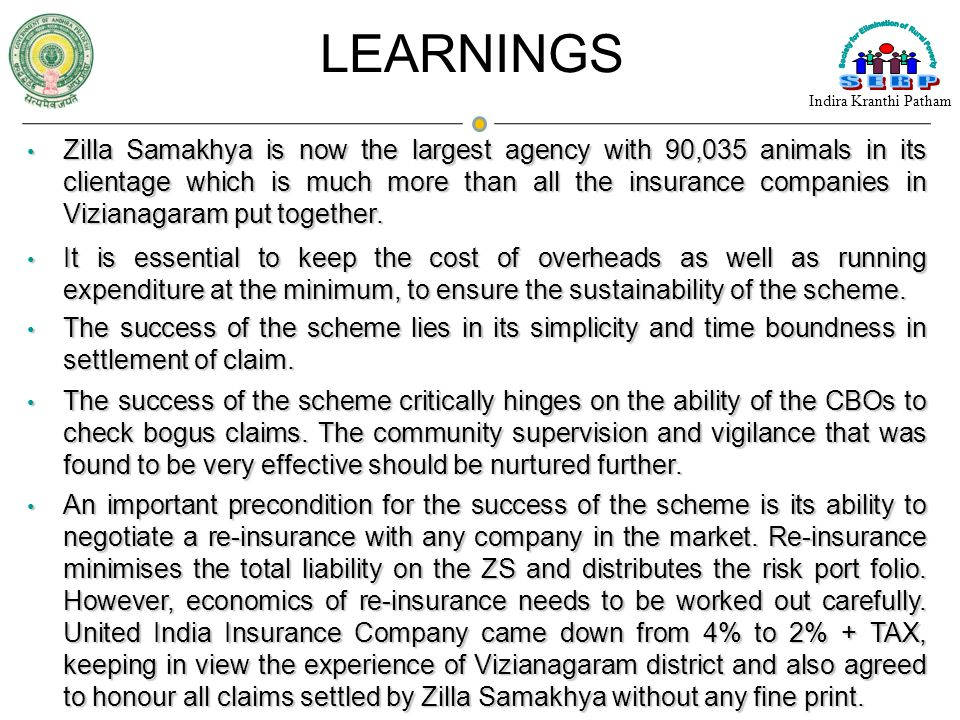 Zilla Samakhya is now the largest agency with 90,035 animals in its clientage which is much more than all the insurance companies in Vizianagaram put