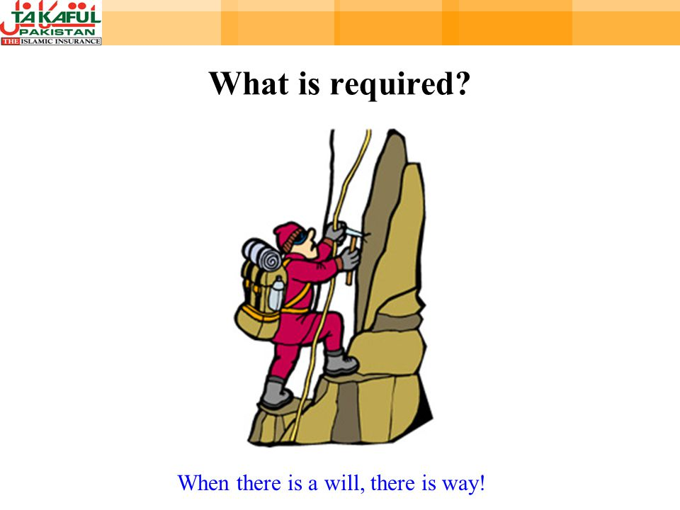 What is required When there is a will, there is way!