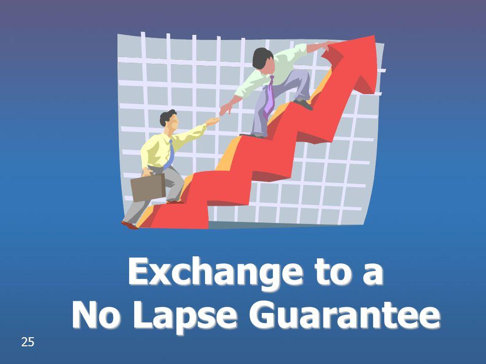 Exchange to a No Lapse Guarantee 25