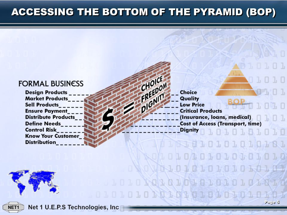 ACCESSING THE BOTTOM OF THE PYRAMID (BOP) Page 5