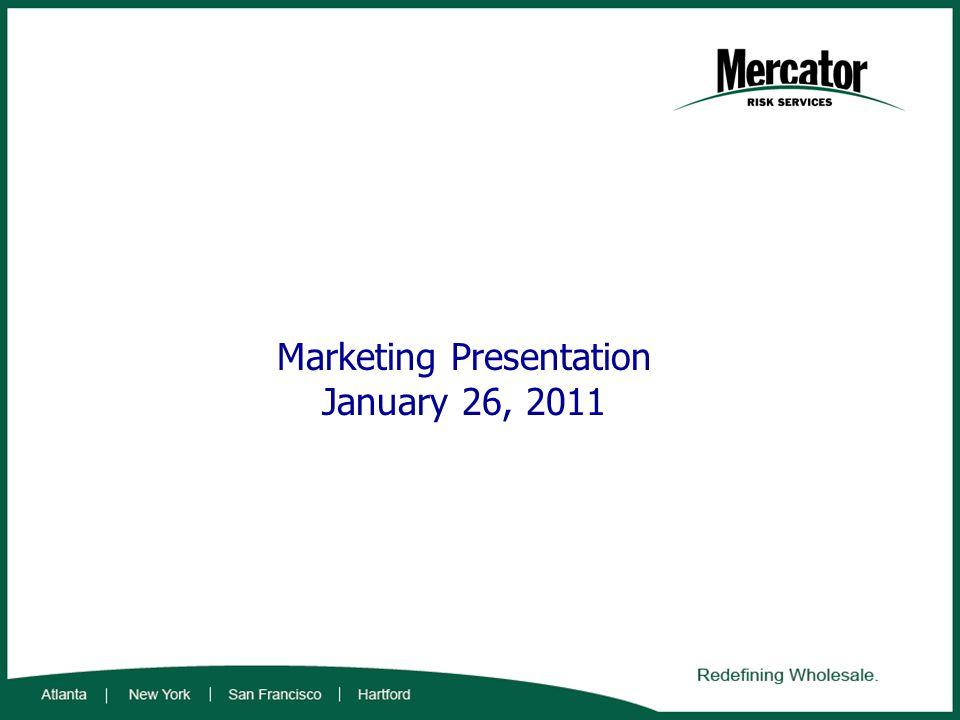 Marketing Presentation January 26, 2011
