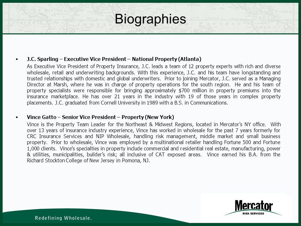 Biographies J.C.