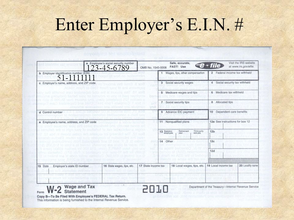 Enter Pastors Social Security # 123-45-6789