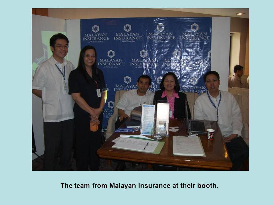 The team from Malayan Insurance at their booth.