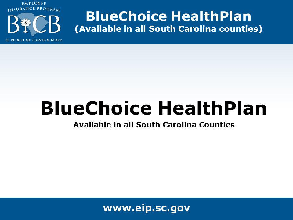 BlueChoice HealthPlan (Available in all South Carolina counties) BlueChoice HealthPlan Available in all South Carolina Counties