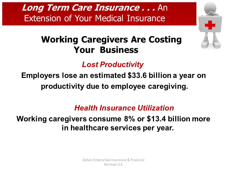 Long Term Care Insurance... An Extension of Your Medical Insurance Working Caregivers Are Costing Your Business Lost Productivity Employers lose an es