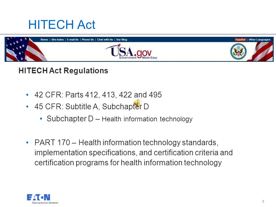 4 4 Certification Commission for Health Information Technology (CCHIT) Health Information Technology for Economic and Clinical Health (HITECH) Policin