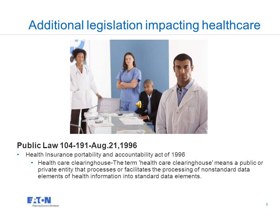 5 5 HITECH Act HITECH Act Regulations 42 CFR: Parts 412, 413, 422 and 495 45 CFR: Subtitle A, Subchapter D Subchapter D – Health information technolog