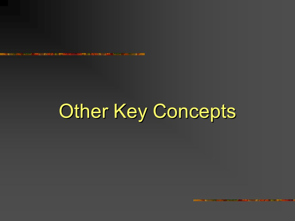 Other Key Concepts