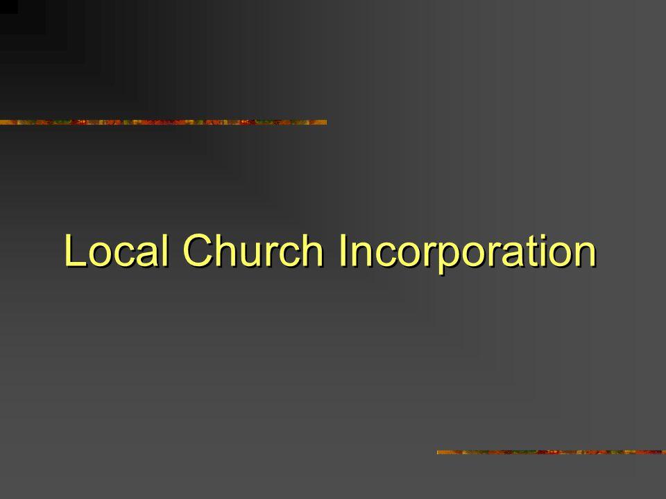 Local Church Incorporation