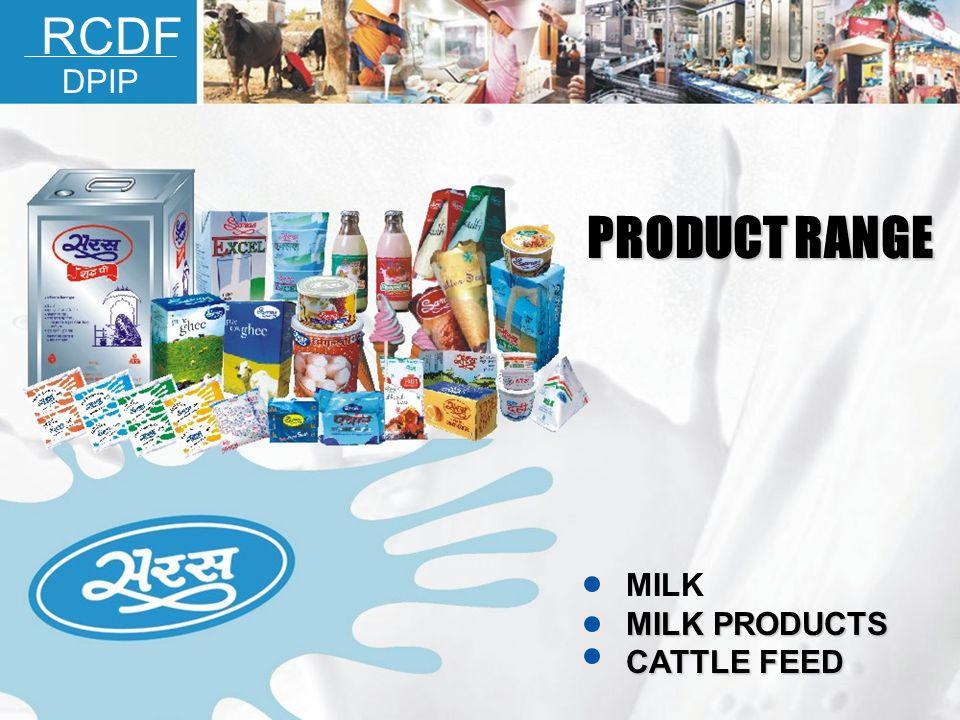 MILK MILK PRODUCTS CATTLE FEED PRODUCT RANGE RCDF DPIP