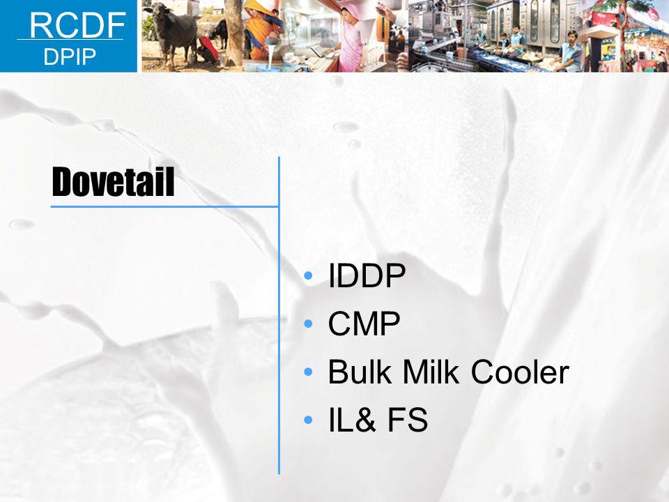 IDDP CMP Bulk Milk Cooler IL& FS RCDF DPIP Dovetail