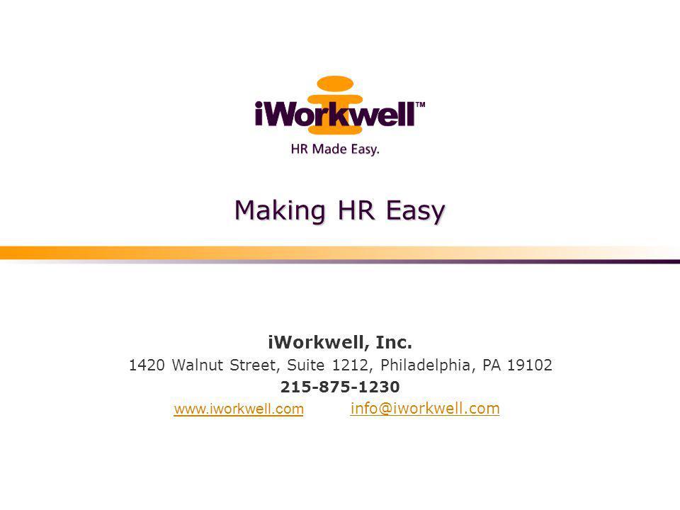 Making HR Easy iWorkwell, Inc.