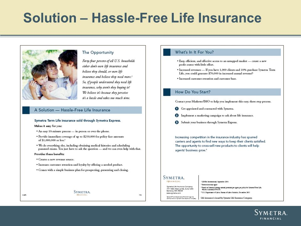 Solution – Hassle-Free Life Insurance