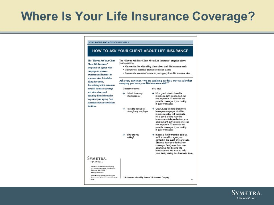 Where Is Your Life Insurance Coverage?