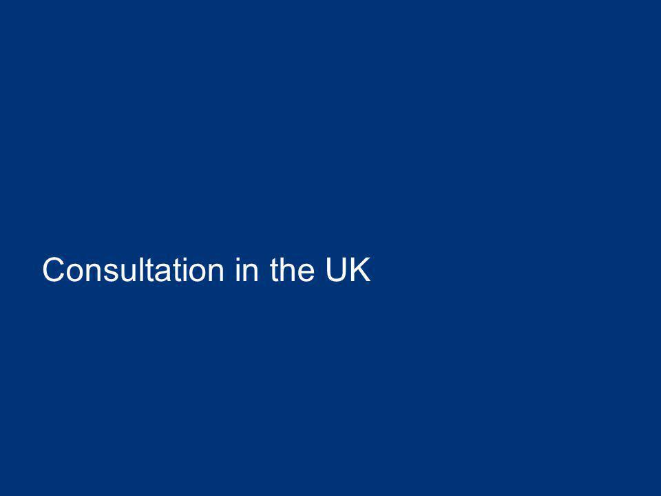 Consultation in the UK