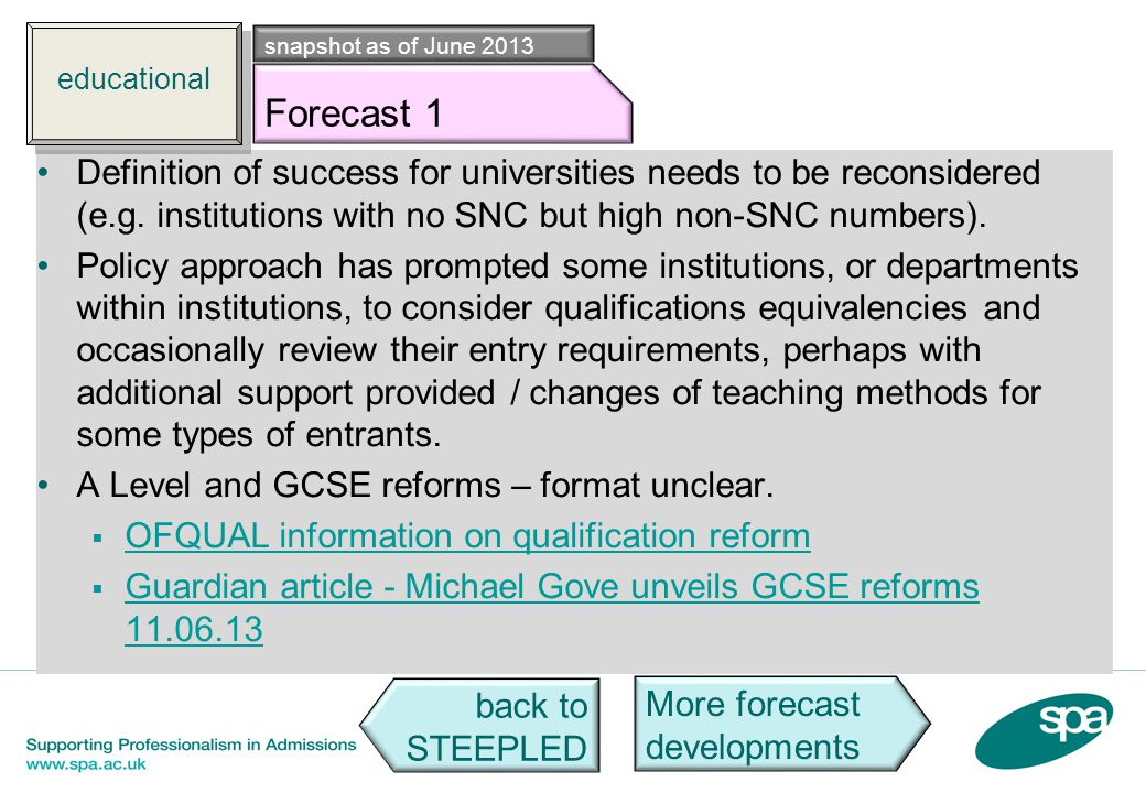 Edu f1 Definition of success for universities needs to be reconsidered (e.g. institutions with no SNC but high non-SNC numbers). Policy approach has p