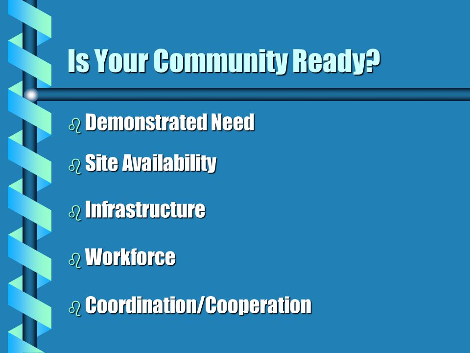 Is Your Community Ready.