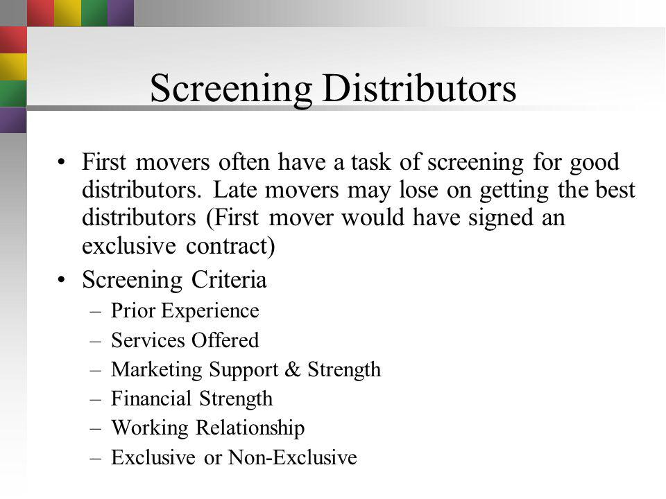 Local Distribution Find a local distributor and avoid creating a new distribution network Sometimes new distribution channels have to be created Local