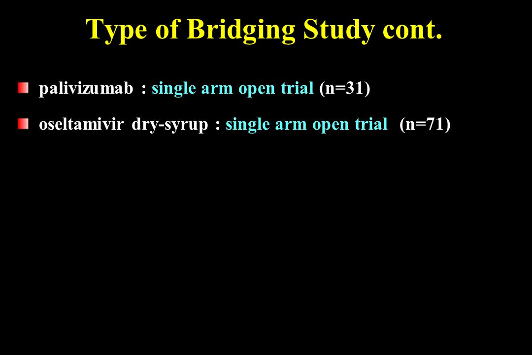Type of Bridging Study cont.