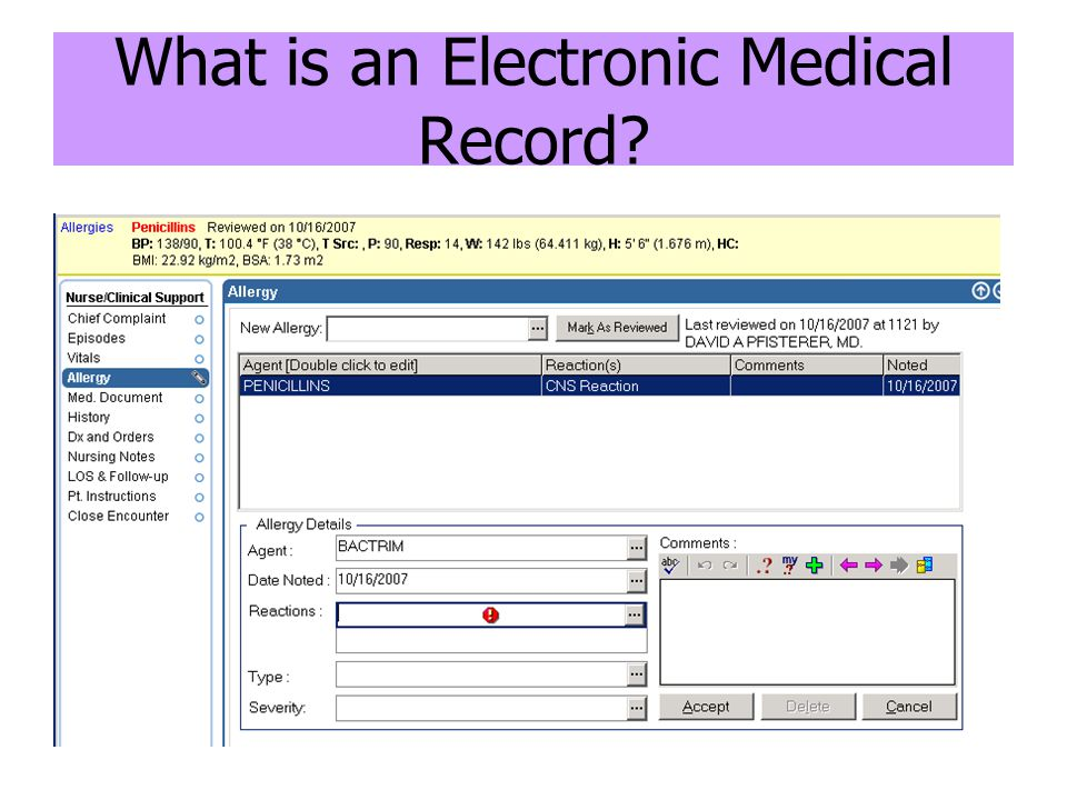 What is an Electronic Medical Record