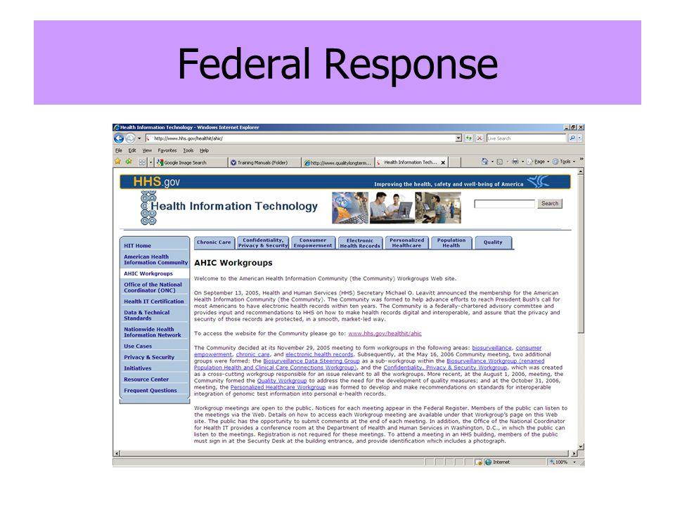Federal Response