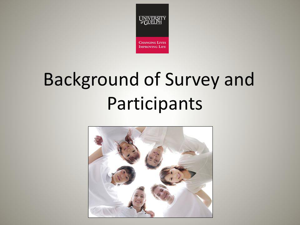Background of Survey and Participants