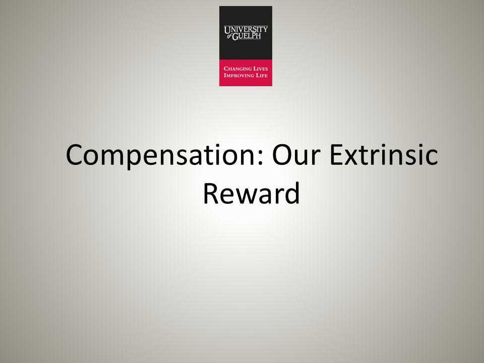 Compensation: Our Extrinsic Reward
