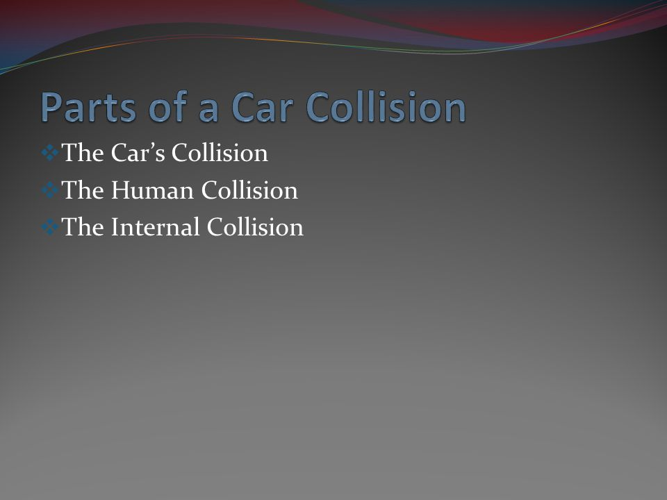The Cars Collision The Human Collision The Internal Collision