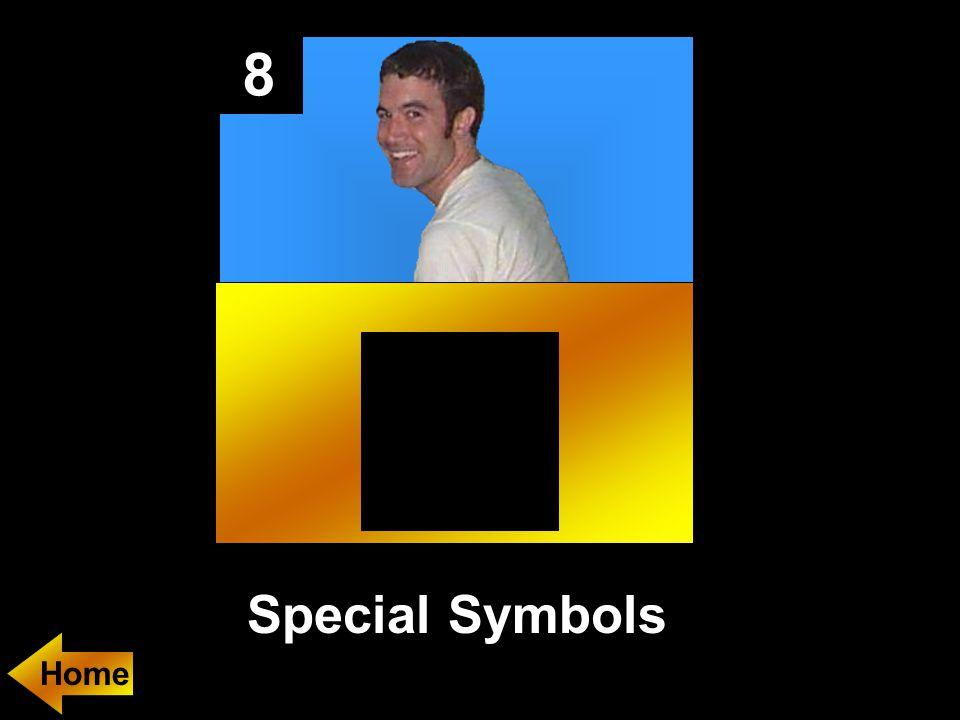 8 Special Symbols