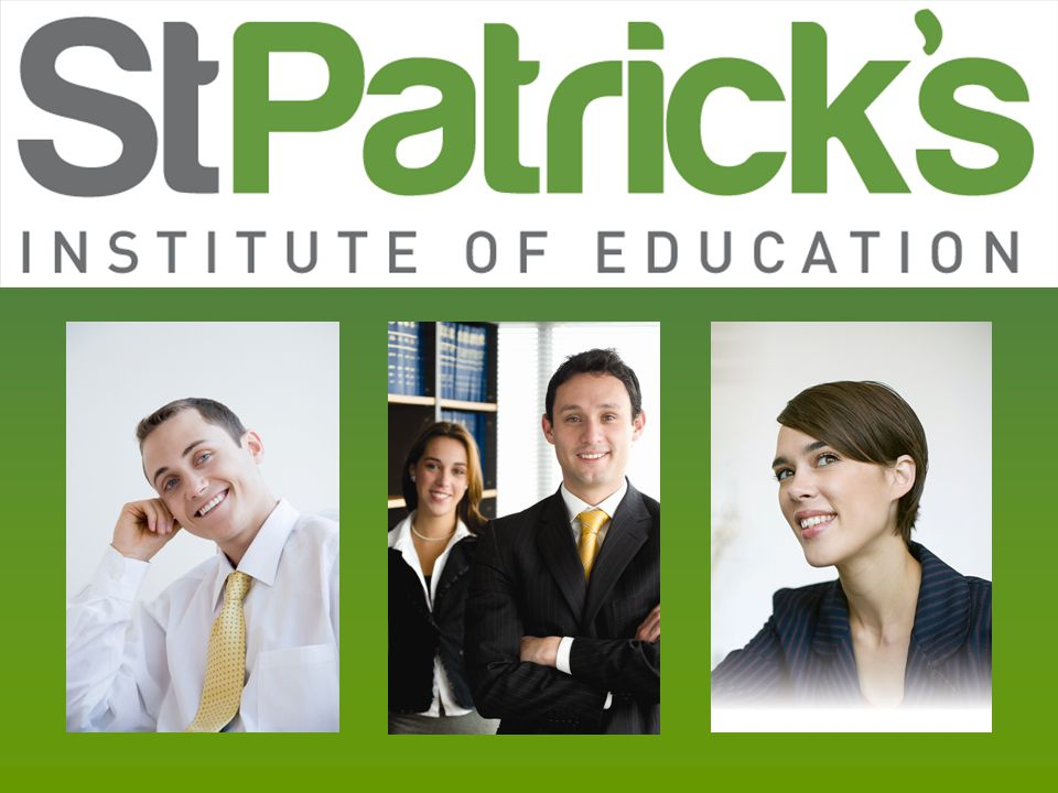 History of St Patricks n Leader in the field of tertiary education since 1923 n Operated by the Sisters of Mercy until 1995 n Under the auspice of CatholicCare since 1996