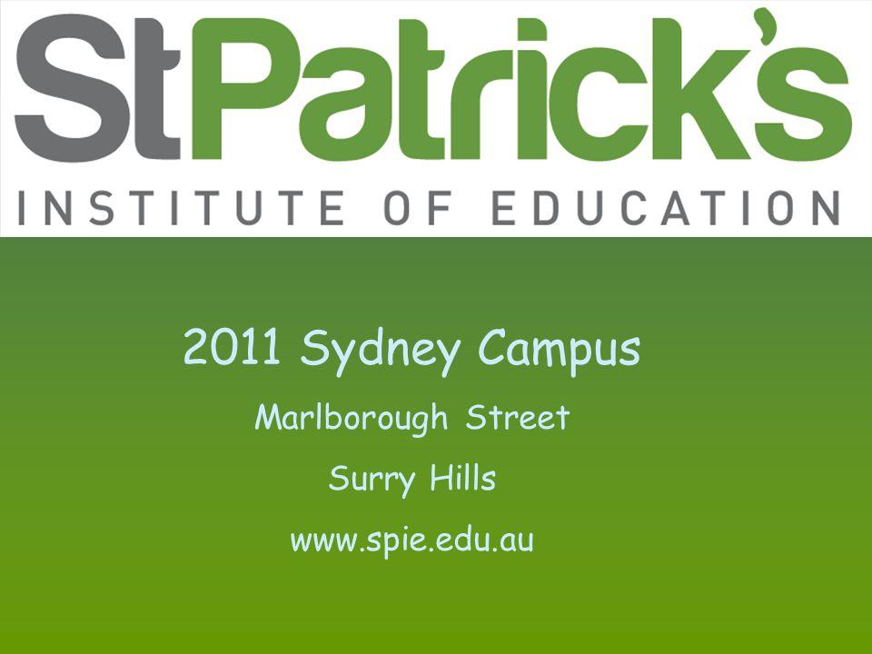 2011 Sydney Campus Marlborough Street Surry Hills www.spie.edu.au