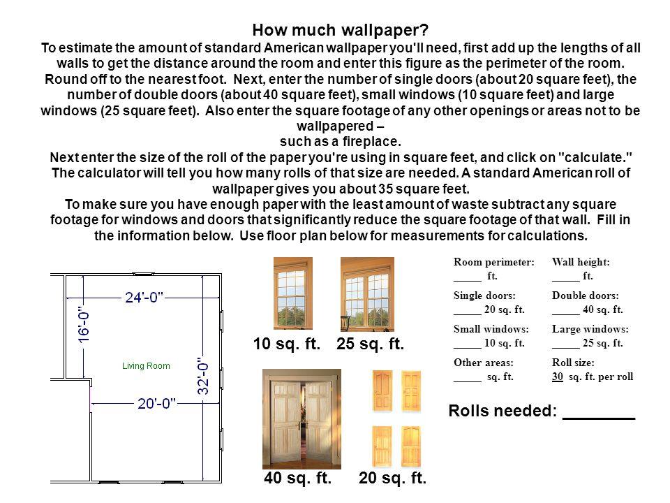 How much wallpaper.