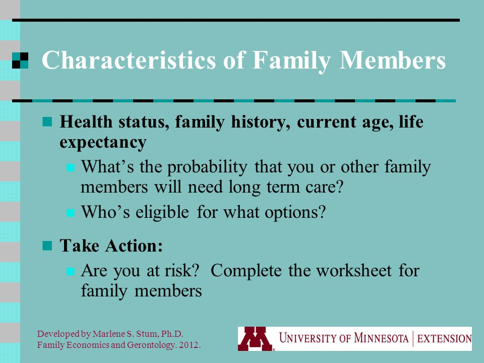 Developed by Marlene S. Stum, Ph.D. Family Economics and Gerontology.