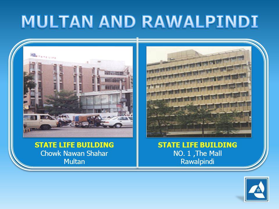 STATE LIFE BUILDING Chowk Nawan Shahar Multan STATE LIFE BUILDING NO. 1,The Mall Rawalpindi