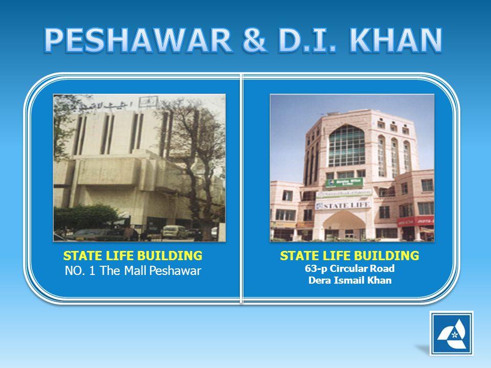 STATE LIFE BUILDING NO. 1 The Mall Peshawar STATE LIFE BUILDING 63-p Circular Road Dera Ismail Khan