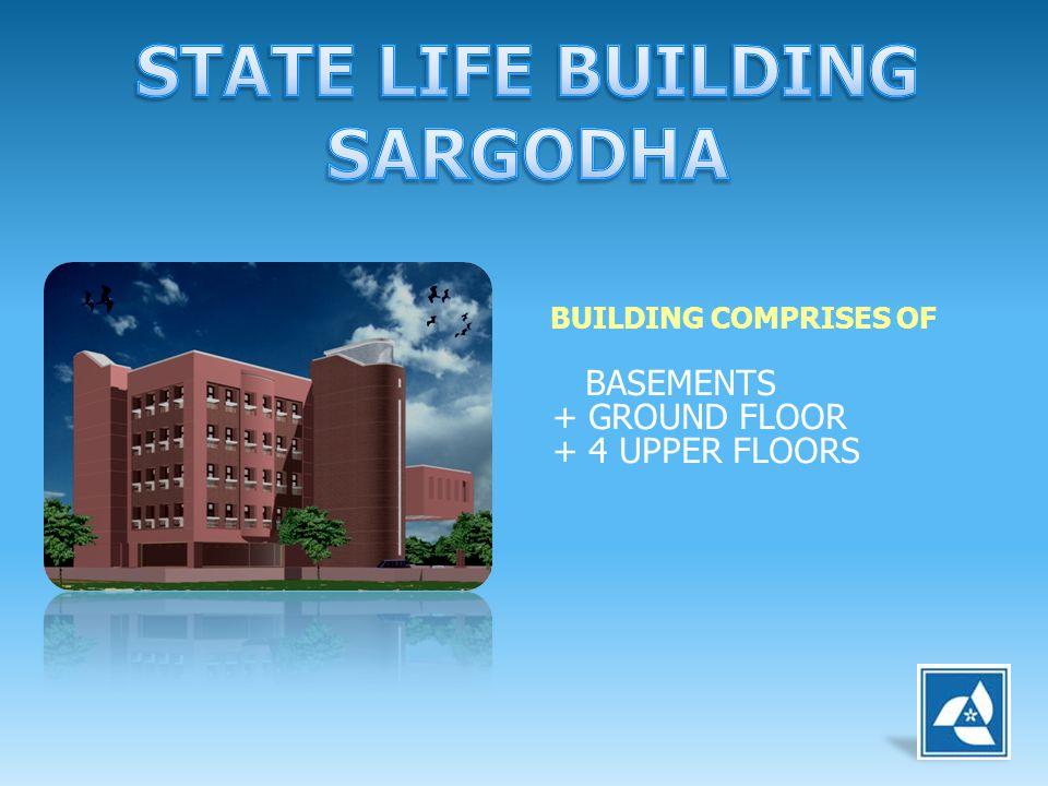 BUILDING COMPRISES OF BASEMENTS + GROUND FLOOR + 4 UPPER FLOORS