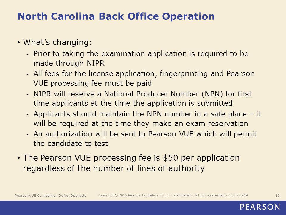 Pearson VUE Confidential. Do Not Distribute.10 Copyright © 2012 Pearson Education, Inc.
