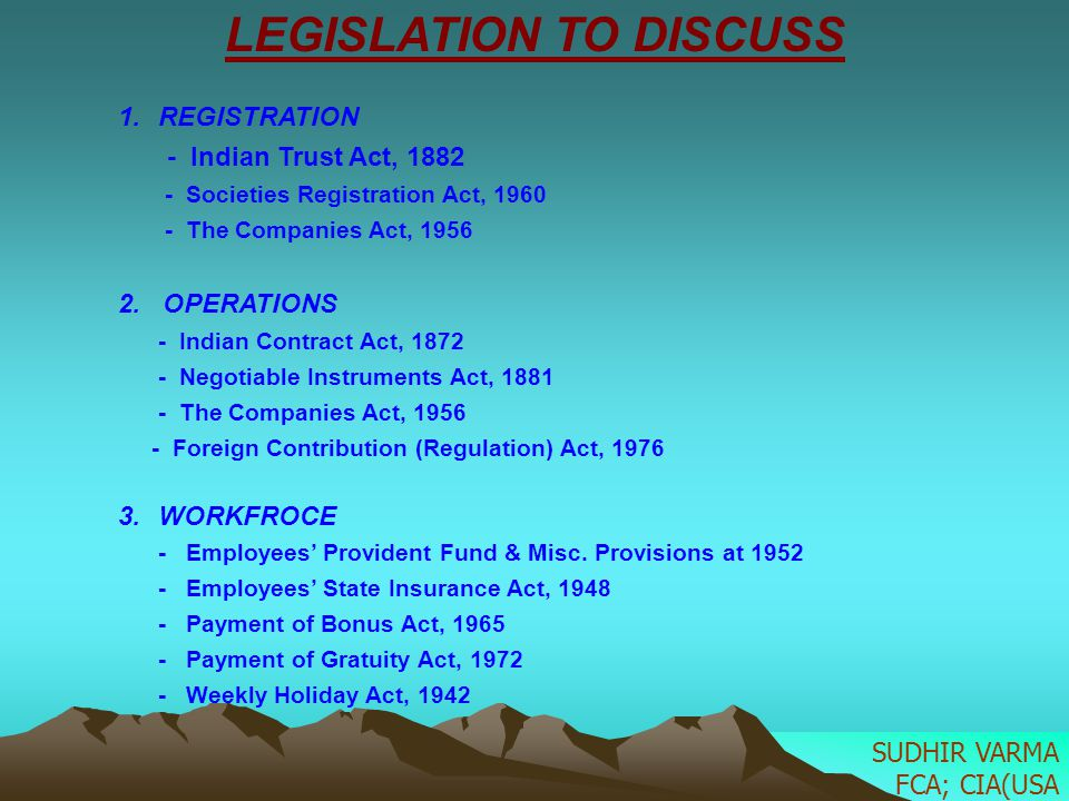 INDIAN TRUST ACT, 1882 1.The settlor 2.The trustees.