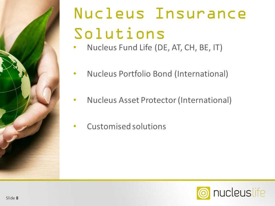 Slide 9 Nucleus Asset Protector Free choice of assets, custodian and asset manager Wide range of assets incl.